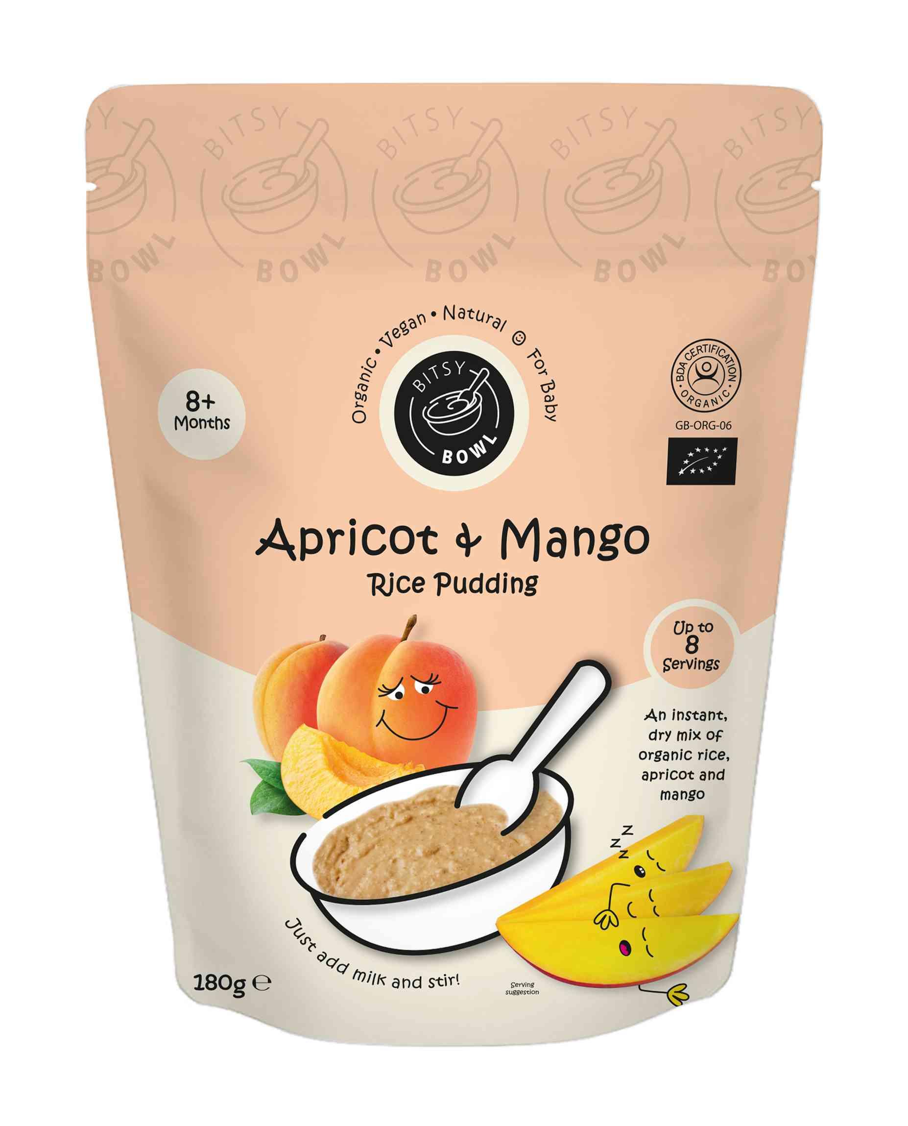 Organic Apricot & Mango Rice Pudding